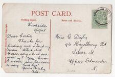 Miss Gertie Digby 96 Hazelbury Road Silver St Upper Edmonton London 1908 821b