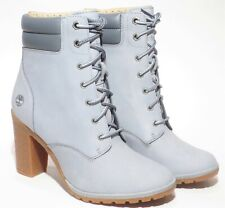 Timberland Women's Gray Tillston 6 inch High Heel Leather Boots Style A2DFG