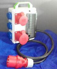 Stromverteiler,Adapter 32A auf 1x 32A,1xCEE 16A,3xSchuko+Fi-Schalter