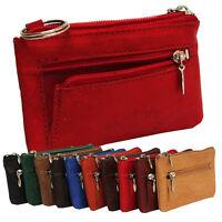 Leder Schlüsseltasche Schlüsseletui Schlüsselmäppchen Etui 10 Farben  2 Modelle