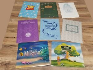8 Walt Disney 1995-1997 Masterpiece Rare Lithographs Lion King Toy Story Bambi!!