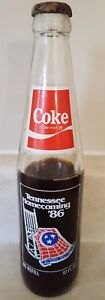 COKE Tennessee Homecoming COMMEMORATIVE BOTTLE COCA COLA 100 YEARS 1986