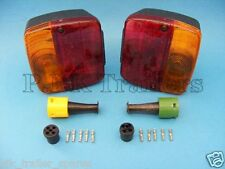 2 x AJBA FP11 Rear Lamps & Replacement Plugs - Daxara & Erde Trailers   #TR