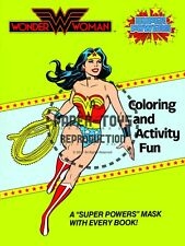 Vintage Reprint - 1984 - Wonder Woman Coloring & Activity Fun Cover And Mask