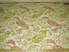 """~9 6/8 YDS~""""PAISLEY"""" FLORAL~LINEN BLEND UPHOLSTERY FABRIC FOR LESS~"""