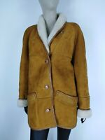 SHEARLING MONTONE SHEEPSKIN Cappotto Giubbotto Jacket  Tg 48 Donna Woman