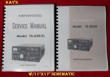 "Kenwood TS-820S Service & Instruction Manual ON 32 LB Paper*w/11""x17""Schematic"