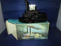 Side Wheeler Boat Avon Decanter Bottle Spicy Aftershave in Box