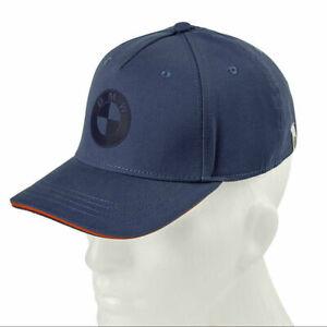 BMW Genuine Motorrad Logo Base Ball Peaked Cap Hat Unisex Blue One Size