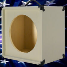 1x12 Guitar Speaker Extension Empty Cabinet  Ivory white Texture Tolex G1X12STWT