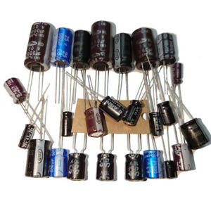Radial Electrolytic Capacitors / Value 0.22uF to 1000uF, Voltage 6.3V to 50V