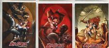 Breygent Red Sonja Complete Red Sonja v Thulsa Doom Chase Card Set RST1-3