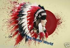 Native American Indian Woman Immagine foto poster Home ART PRINT-WALL DECOR