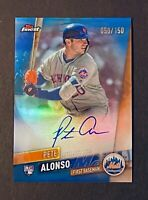 2019 Topps Finest Pete Alonso Rookie RC Auto Blue Refractor /150 - New York Mets