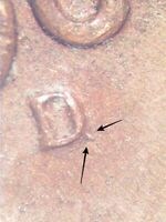 "1964 D Lincoln Cent XF Tail On Mint Mark Looks Like ""Q"" Neat Error Coin!"