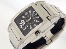 De Grisogono Tino Acie 2Time Zones Diamonds N04002B Instrument 36x50mm $9300 NIB