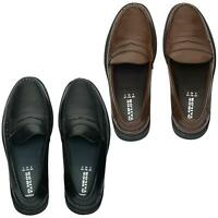 Lucini Mens Shoes Wide Fitting Smart Slip On Moccasins Loafers Deck Boat Shoes