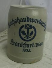 alter Bierkrug Reichshandwerkertag Frankfurt 1935 0,5L