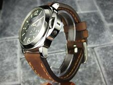 24mm NEW COW LEATHER STRAP Brown Watch BAND PAM 1950 24 mm Copper Stitch