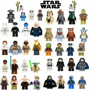Star Wars Minifigures Darth Vader Yoda Grogu Mandalorian Boba Fett Ashoka Tano