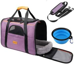 Pet Travel Carrier Bag Portable Folding Fabric Locking Safety Zipper Durable