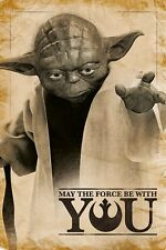 Star Wars (yoda May The Force Be With You) Pp33690 Maxi Poster 61cm X 91.5cm