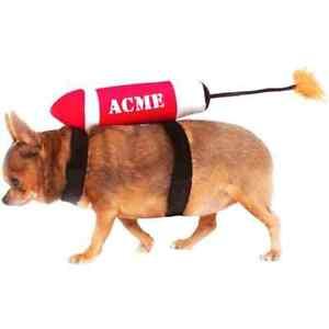 Acme Rocket Cartoon Dynamite Funny Fancy Dress Up Halloween Pet Dog Cat Costume