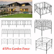 Garden Fence Wrought Iron Fence Folding Wire Patio Fencing Border Edging Barrier