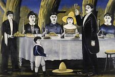 """perfect 36x24 oil painting handpainted on canvas"""" Family Feast""""@N5476"""