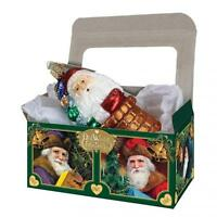 "5 14035 OLD WORLD CHRISTMAS CARDBOARD GIFT BOXES 6""X3 1/2""X2 3/4"" (BOXES ONLY)"