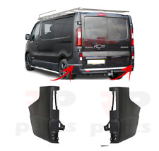 FOR RENAULT TRAFIC 2014 - 2020 NEW REAR BUMPER SIDE BLACK CORNER PAIR SET