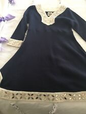 BOUTIQUE NEST 3T NAVY BLUE  BEADED DRESS GORGEOUS NWT