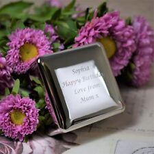 Grabado Personalizado Cuadrado Plateado joyas Caja para joyas (xac25)