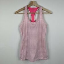 Lorna Jane Womens Tank Top Size Small Pink Striped Good Condition