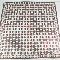 Vintage 1960s Vera Neumann Ladybug Abstract Brown White Color Small Scarf Hankie