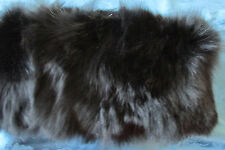 """NWOT """"DANIER FOX FUR"""" SCARF/PULL OVER NECK/ BLACK/SOLID/ BEAUTIFUL GREAT GIFT"""