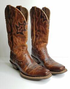 Ariat Women's Runaway Western Boots Caramel/Rich Chocolate 10009539Sz 7.5 B