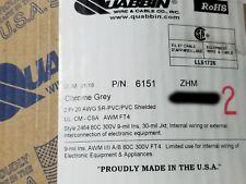 Quabbin 6151 20/2P Shielded Pairs Communication Cable Belden 9402 equiv. /50ft