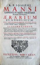 1735 – GIUSEPPE MANSI, AERARIUM EVANGELICUM – RELIGIONE CHIESA CATTOLICA VANGELO