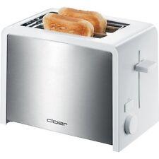 Cloer Toaster 3211 Weiss-Edelstahl Brötchenaufsatz Krümelschublade 825 Watt