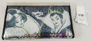 Disney Store Sequin Designer Villains Wallet Evil Queen Ursula Maleficent