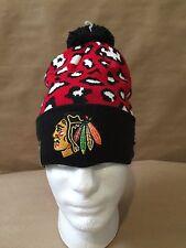 "New Era Chicago Blackhawks NHL ""Winter Jungle"" Cuffed Knit Hat OSFM NWT"