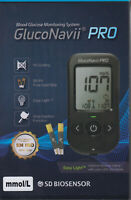NEU: GlucoNavii PRO Blutzucker-Messgerät mmol/l plus Teststreifen - neu+OVP v FH