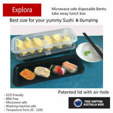 30 Sets 360ml Plastic Rectangle Take away Food Container Box with Air Cap Lid