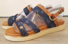 Wrangler W452 ladies womens navy brown flat heel open toe sandals UK 4 EU37