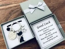 GOOD LUCK CHARM, LUCKY SIXPENCE AND BLACK CAT, travel, new job, exams, etc