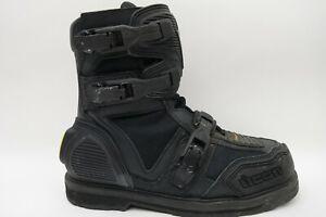 Icon Field Armor Motorcycle Boots  Side Zipper Black Men Size 12