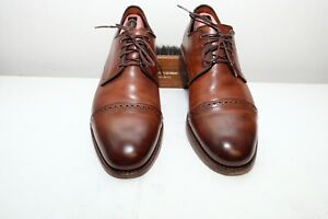 Allen Edmonds: Boulevard Cap Toe Derby Dress Shoe in Dark Chili 10 E