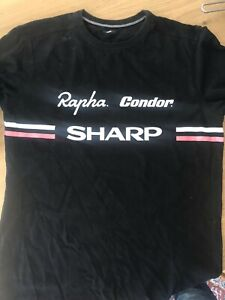 Rapha Condor T-shirt Black Cycling Size L