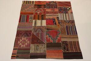 Fine Kelim Patchwork Antique Look Fine Persian Carpet Oriental Rug 2,25 X 1,75